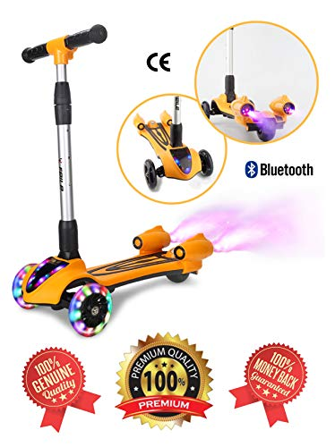 Amazon.com: SHRAGIS Adjustable 3 Wheel Kids Scooter for Boys ...