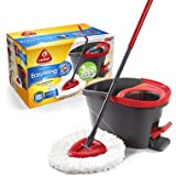 O-Cedar Easy Wring Spin Mop & Bucket System with 3 Extra Refills (pack of 2)