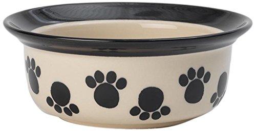 (PetRageous 14026 Paws n' Around Black 2 Cups Bowl )