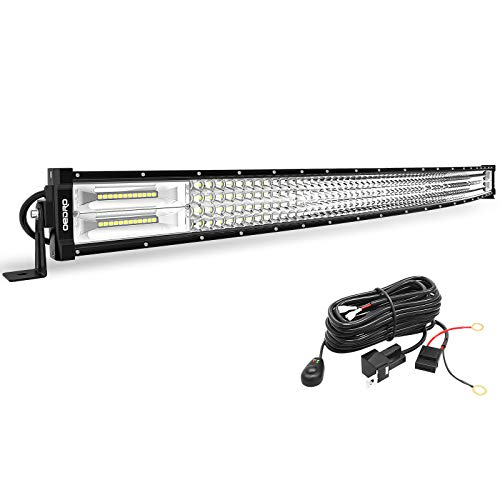 LED Light Bar Curved with Wiring Harness Quad-Row 42In 1128W oEdRo Spot Flood Combo Led Lights Work Lights Fog Driving Light Off Road Light 12/24V Fit for Pickup Jeep SUV 4WD 4X4 ATV UTE TruckTractor