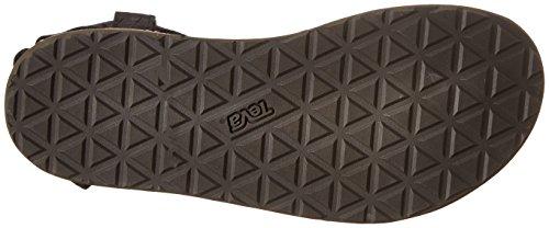 Teva Original Sandal LTR Diam. W's - Sandalias Deportivas de cuero mujer negro - Schwarz (513 black)