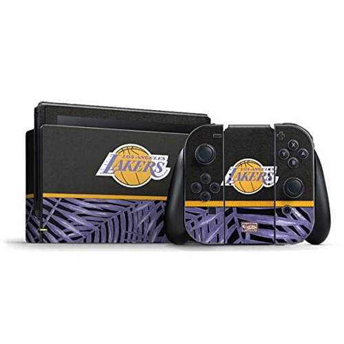 NBA Los Angeles Lakers Nintendo Switch Bundle Skin - Los Angeles Lakers Retro Palms Vinyl Decal Skin For Your Switch Bundle by Skinit