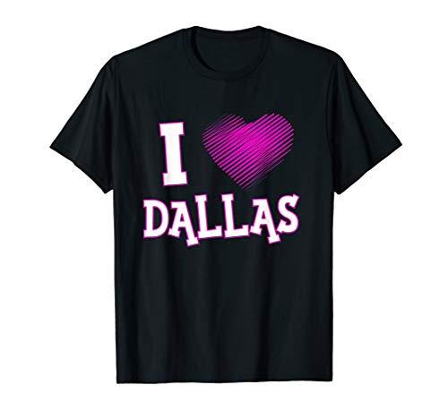 - I Love Dallas T-Shirt Texas Texan Pink Heart Tee Gift