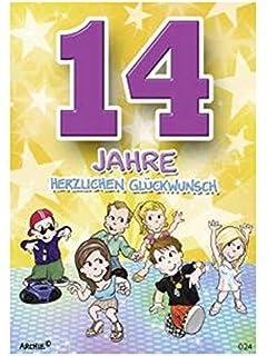 James Ellis Kapow Shakies Alter 14 Geburtstag Karte Amazon