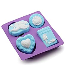 XUEXIN Kitchen DIY hand soap silicone mold angel rose love then blossom combination mold
