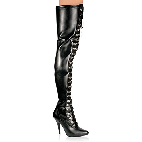Pleaser Seduce-3024 - Sexy High Heels Overknee Stiefel 36-48, Größe:EU-46 / US-15 / UK-12