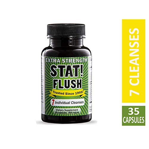 Emergency Flush - Stat Flush Value Size Emergency Detox - Pass Any Drug Test in 90 Minutes - 7 Full Cleanses (35 Capsules)