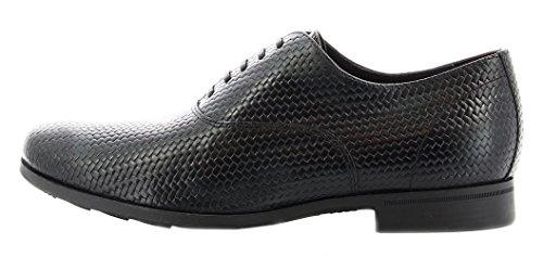Geox U Besmington B, Zapatos de Cordones Oxford para Hombre Nero