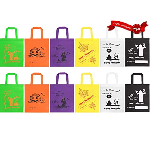 Halloween Pumpkin Candy Bag/Basket with Cartoon Character, 12