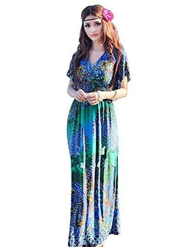 Darin Damen Lange Sommer-Kleid mit Ärmeln Mopping aus Seide – Stil ...