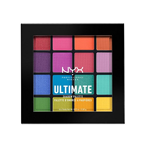 NYX PROFESSIONAL MAKEUP Ultimate Shadow Palette, Brights, 0.46 Ounce
