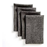 Solino Home Linen Dinner Napkins - 20 x 20 Inch Grey, 4...