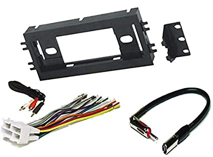 416f3sz1vkL._SX425_ amazon com radio stereo install single din dash kit wire harness