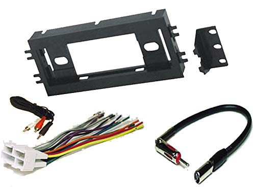 Radio Stereo Install Single Din Dash Kit + wire harness + antenna adapter for Chevy Chevrolet Camaro 90-96 and Pontiac Firebird 1990 1991 1992 1993 1994 1995 1996 1997 1998 1999 ()