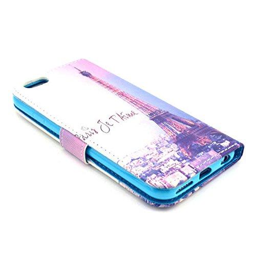 (10#) Painting Art Design Beutel PU Leder Stehen Flip Schutzhülle Hülle Tasche Schale Case Cover für Apple iPhone 6 Plus (5.5 Zoll)