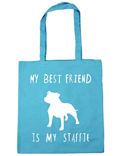 Beach Surf best staffie 10 HippoWarehouse dog friend My Blue litres is x38cm Bag my Gym Shopping Tote 42cm qwCxvaC5