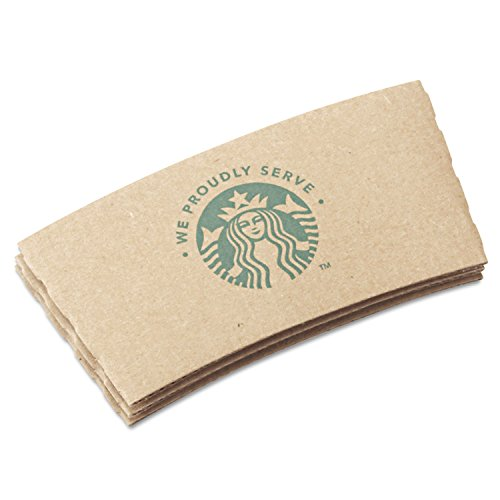 Starbucks 11020575 Cup Sleeves for 12/16/20 oz Hot Cups, Kraft (Case of 1,380)