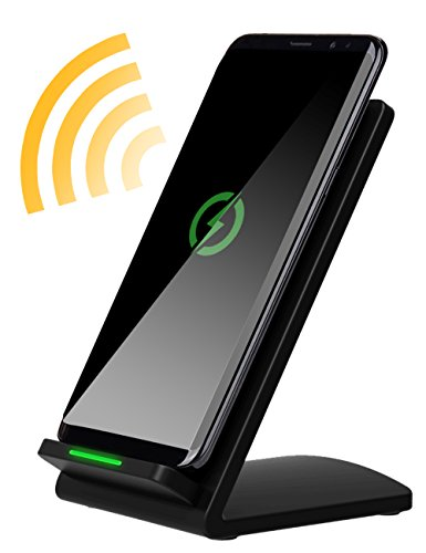 Pecosso Fast Wireless Charger, Charging Stand : 2 Coil Qi Wireless Charging stations for iPhone X / 8 / 8 Plus Samsung Galaxy S8 S8 Plus S7 S7 Edge Note 5 Note 8 Edge Plus Standard Qi-enabled devices