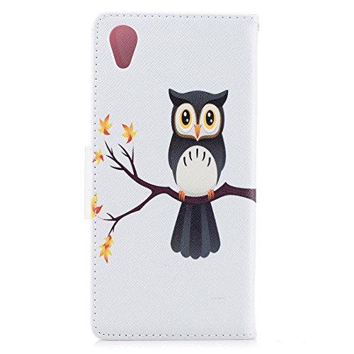 fente avec Sony cuir carte conception support protection en cas Plus magnétique avec portefeuille Xperia peint pour en XA1 Hozor de étui owl d'impression PU Flip fermeture aérosol BqOxnp1dw