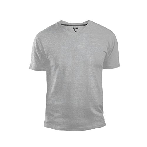 GAP Men's V Neck Cotton T Shirt Everyday Quotidien Solid Color (Gray, X-Small)