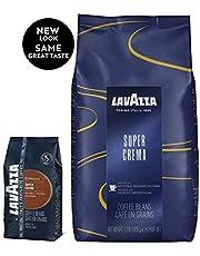 Lavazza Super Crema Espresso Whole Bean Coffee, 2.2-Pound Bag 2-Pack 35.2 Ounces