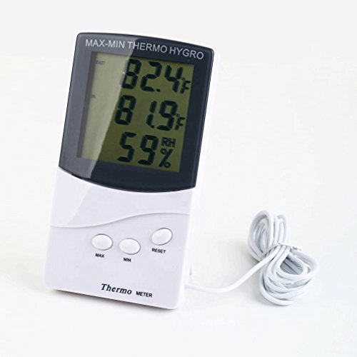 Thermometer Hygrometer Meter Temperature Humidity Digital LCD Indoor/Outdoor NEW (Outdoor Pedestal Clock Thermometer)