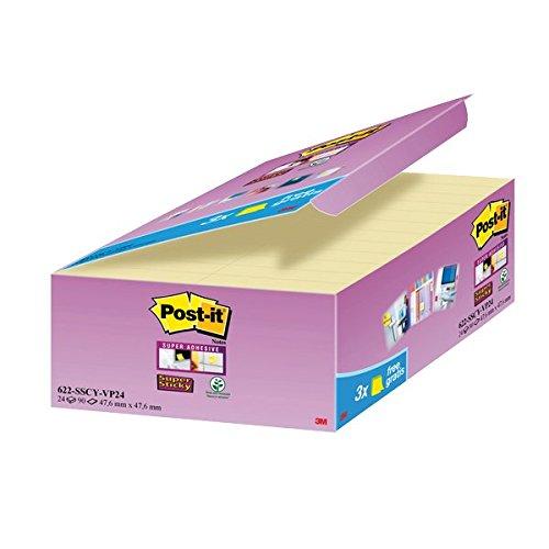 Post-it Value Pack di Super Sticky, 21+3 Pezzi in Omaggio 3M Italia Srl it office products 3MITA 685474