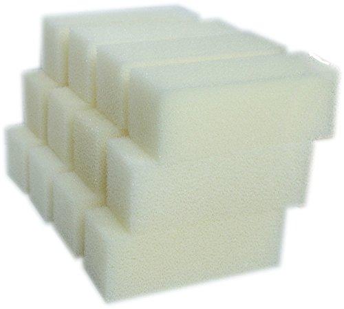 LTWHOME Foam Filter Pads Fit for Aqua Clear 110 / 500 AquaClear (Pack of 12) (Aquaclear 500 Aquarium)
