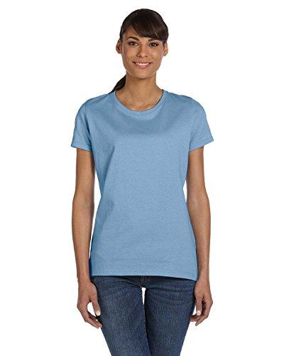 Fruit Of The Loom Classic Sweatshirt - Fruit of the Loom Ladies' 5 oz, HD CottonÖ T-Shirt-Light BLUE-3XL