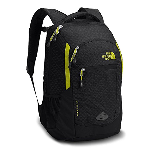 The North Face Pivoter Blk Emboss Sulphur Green Unisex Daypack