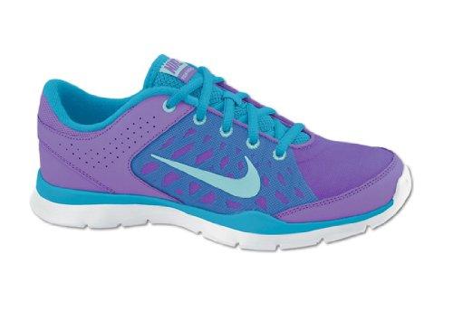 Nike NIKE FLEX Trainer 3 580374 502 atomic violet/glcr ice/vvd blue - Zapatillas para deportes de exterior para mujer gris - lila-blau