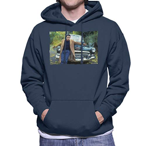 TV Times Jools Holland by A Classic Car Men's Hooded Sweatshirt Navy Blue