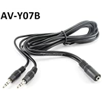 6ft 3.5mm Stereo Female to 2-male Y-splitter Audio Cable