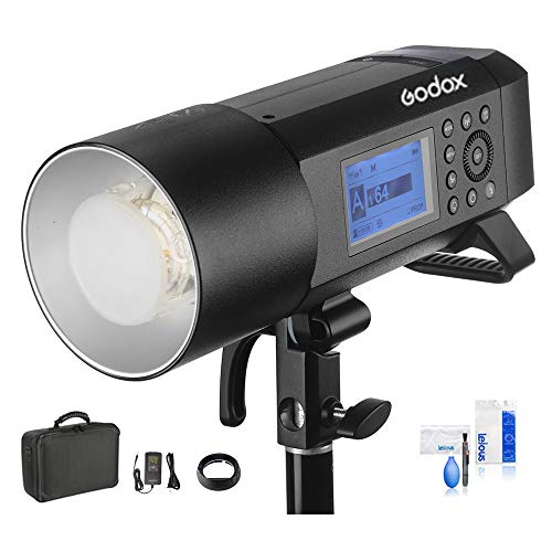 Godox AD400Pro Witstro All-in-One 400ws GN72 TTL Battery-Powered Monolight, 1/8000s HSS Outdoor Flash Strobe Light, Built-in Godox 2.4G System, 390 Full Power Pops, 0.01-1s Recycle Time
