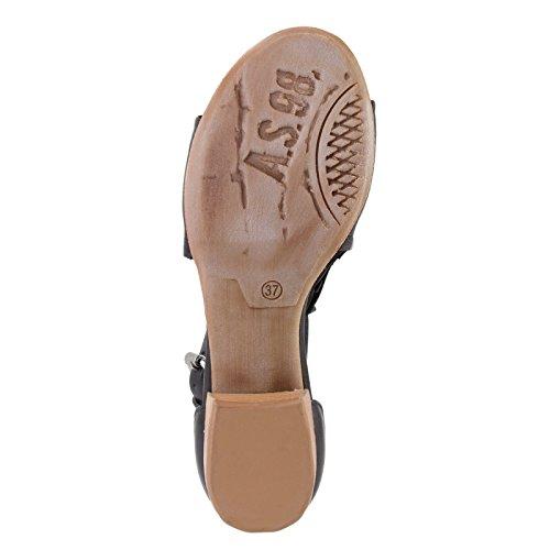 A.S.98 - Sandalias de vestir de piel para mujer NERO+NERO+DESERTO