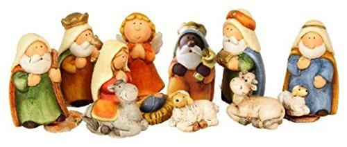 Ensemble de figurines pour crèche 11 pièces