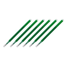 Pilot FriXion Eraseable Gel Ink Pen Refills, Fine Point, Green Ink, Pack of 6