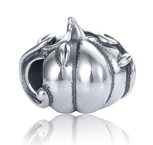 Best Wing Jewelry .925 Sterling Silver Pumpkin Charm Bead -