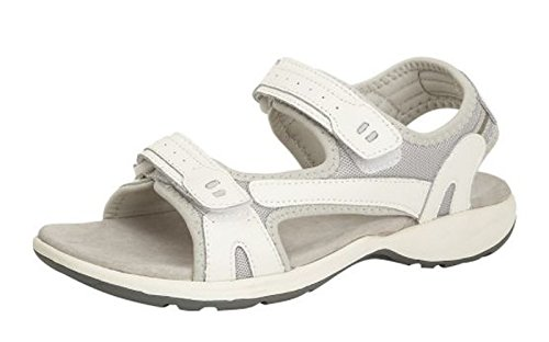 Boulevard Womens Ladies Leather Sports Sandals Velcro PDQ Cushioned Hiking Trail Shoes White 2a6jE2k