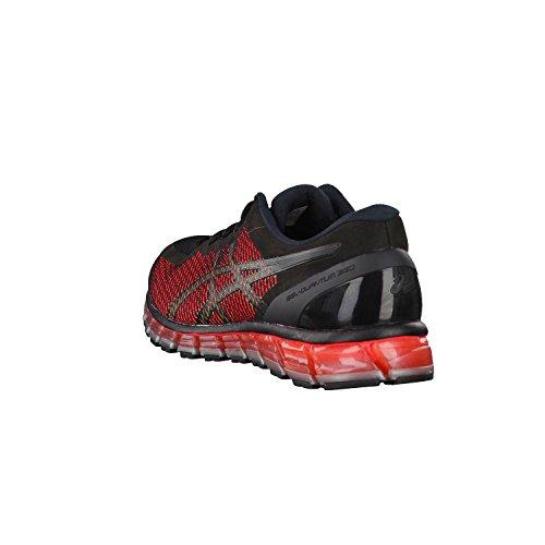 Asics Gel-Quantum 360, Zapatillas de Running para Hombre Negro-Rojo-Verde
