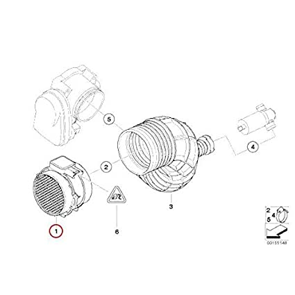 Amazon Com Vdo A2c59511576 Mass Air Flow Sensor Automotive