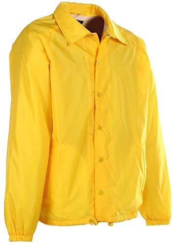 First Class 100% Nylon Windbreaker (Yellow)-3XL]()