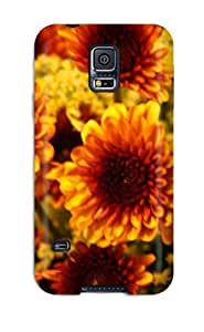 Flexible Tpu Back Case Cover For Galaxy S5 - Fall Flowers