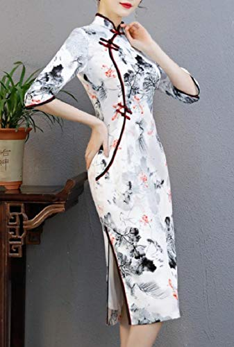 Pencil 5 Qipao Coolred Sheath Dress Dress Robe Wedding Split Women Chinese f0aFqxw7a