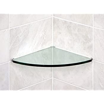 Bluegate inc bathroom tempered glass curved - Bathroom glass corner shelves shower ...