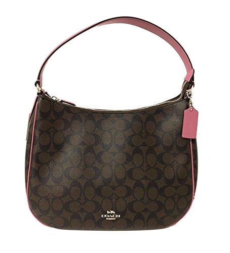 Coach Signature Zip Shoulder Bag (SV/Brown Azalea) ()
