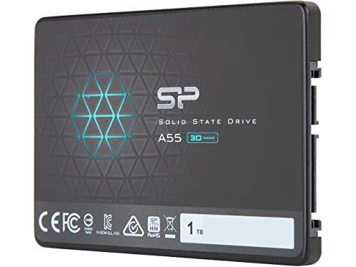 "Silicon Power 1TB Ace A55 2.5"" SATA III 3D NAND Internal Solid State Drive Model SU001TBSS3A55S25NE"