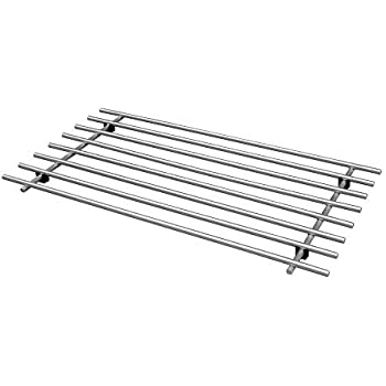 'Ikea 301.110.87 Lamplig Trivet, 20 by 11-Inch, Stainless Steel' from the web at 'https://images-na.ssl-images-amazon.com/images/I/416fA8mU70L._SL500_AC_SS350_.jpg'