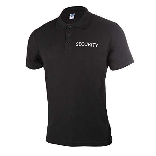 Security Poloshirt, schwarz L