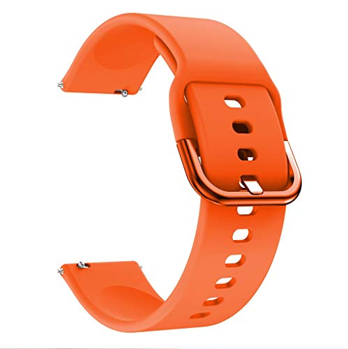 Clearance Sale!DEESEE(TM) Sports Soft Silicone Replacement Band Strap for Samsung Galaxy Watch Active (Orange)